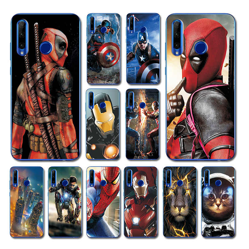 For Hauwei Honor 20i Phone Case Bumper For Hauwei Honor 10 Brilliant Deadpool Printed Case Cover For Huawei Honor 10i 20i 8A 8X