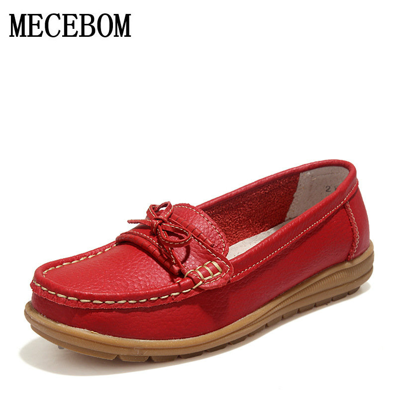 Shoes Woman 2017 Genuine Leather Women Shoes Flats 4Colors Loafers Slip On Women's ballet Flat Shoes Moccasins footwear 2872W