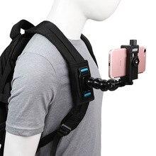 Mochila para celular ao ar livre, suporte fixo para huawei iphone, acessórios para pilotar, bolsa de suporte