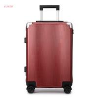 CUWHF ABS + PC mute МНЛЗ 20 дюймов 24 дюймов тележка случай Ретро Бизнес чемодан студент дорожная сумка саквояж на колесах