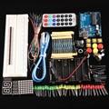 2016 Nova Básico Starter Kit para Arduino UNO R3 básico AMPLA kits robô com Uno R3 mini