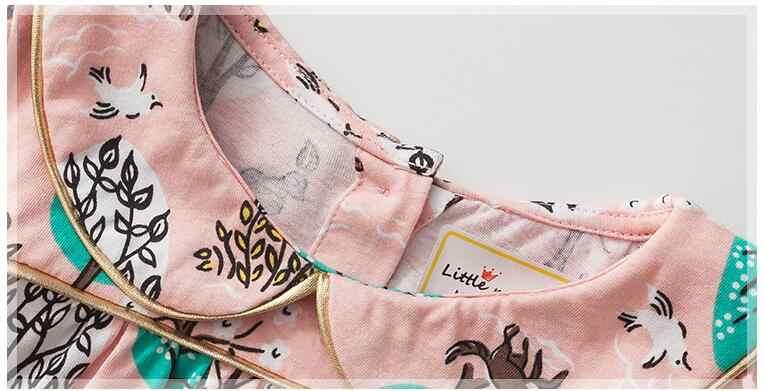 Little maven kids merk 2018 herfst nieuwe ontwerp kinderen jurk baby meisjes kleding Katoen boom print meisje jurken S0410