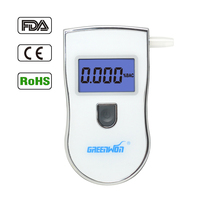 Smart Breath Alcohol Tester Digital LCD Breathalyzer Analyzer Digital Alcohol Tester With 5 Mouthpieces