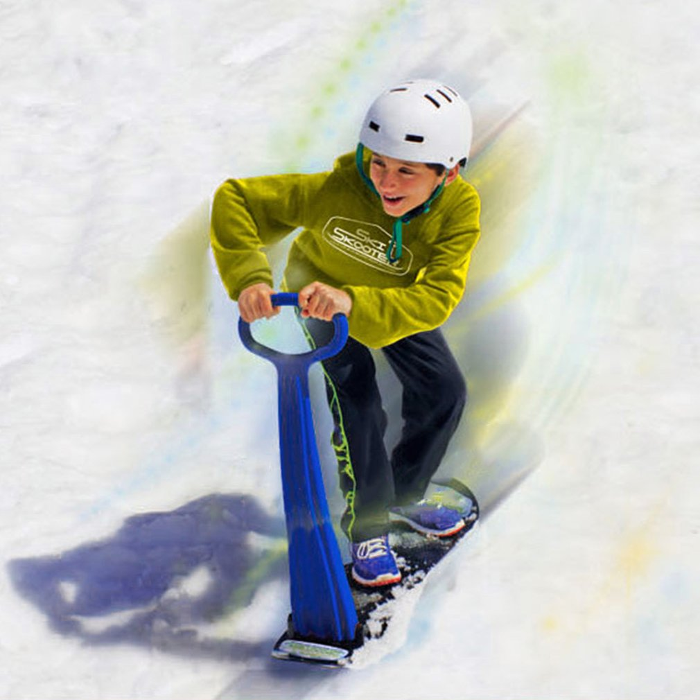 3 Color Outdoor Sports Portable Foldable Plastic Freestyle Single Board Snow Grass Sand Board With Armrests For Children&Adults