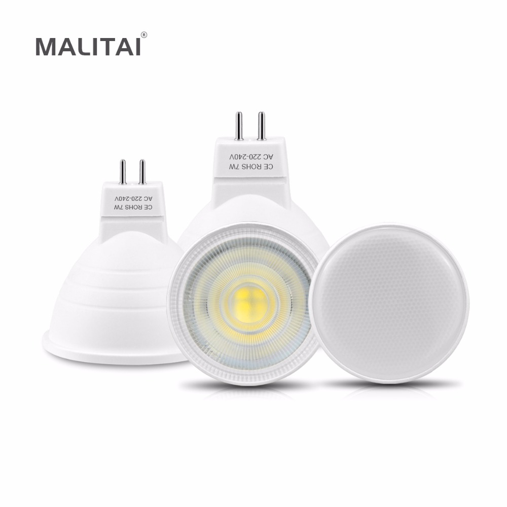 MR16 LED Bulb 7W 2835 LED Spotlight Ceiling MR16 220V Non-Dimmable LED Spot light lamp Fireproof For Indoor Downlight lighting