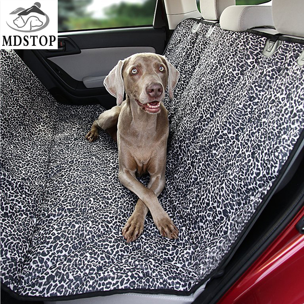 2017 New Pet Car Seat Cover Protector Luxury Leopard Silicone Nonslip Dog Auto Back Seat Mat Cat Hammock for Midsize SUV Trucks