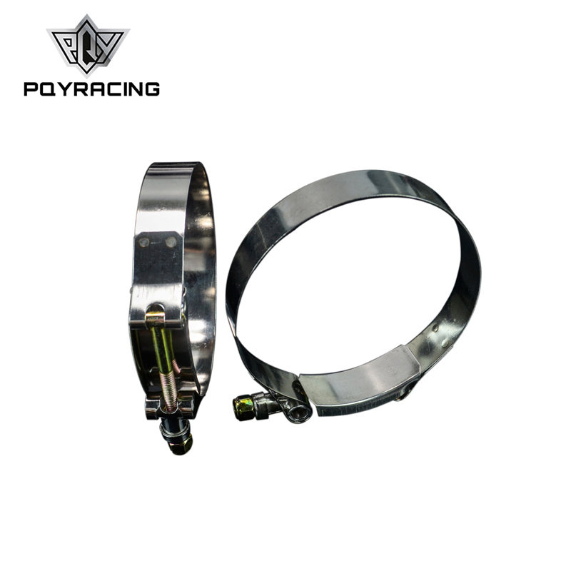 PQY - (2PC/LOT) 3.5 CLAMPS (92-100)STAINLESS SILICONE TURBO HOSE COUPLER T BOLT CLAMP KIT HIGH QUALITY PQY5256