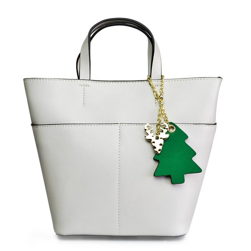 2018 New Fashion Soft Real Genuine Leather Women Handbag Elegant Ladies Hobo Shoulder Bag Purse Satchel White Two Straps Bags цена