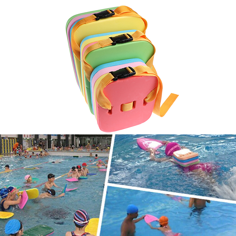 Kids Swimming Back Floating Belt Kickboard Summer Water Trainning Learn Swimming EVA Foam Floating Plate For Children Adult