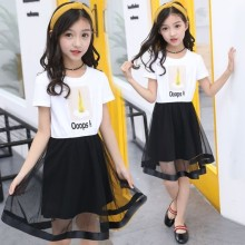 Girls summer dress 2019 new style Korean version big child children girl