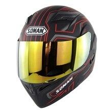Color Visor Double Lens Motorcycle Helmet Flip UP Modular Motorbike Street Helmets Casco Casque Soman 955 Red Black