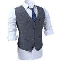 51781b63ab877 British Style Wool Tweed Vest Men S Suit Vest Slim Fit Groom Vest Vintage  Wedding Waistcoat