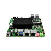 Очень дешевые Quad core 2,08 ГГц безвентиляторный N3150 ITX материнская плата двойной RJ45 Поддержка ИК разъем