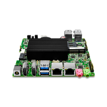 Very cheap Quad core 2 08Ghz Fanless N3150 ITX font b Motherboard b font Dual RJ45