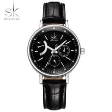 Shengke Fashion Brand Women Watches Analog Wristwatch Leather Watchband Ladies Dress  Relogio Feminino Saat 6842