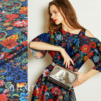 140cm wide silk double crepe fabric 16mm 100 silk flowers glamorous inkjet spring and summer silk fabric silk fabric clothing