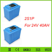 Free Shipping 2pcs 2S1P Lifepo4 Phosphate Battery Lifepo4 Battery 12v 40ah Lifepo4 12v 40ah For 24V