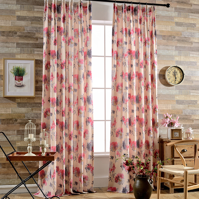 Exquisite Printed Modern Curtain Quality Curtains For Living Room ...