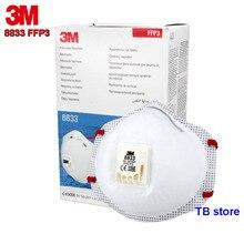 3 м 8833 FFP3 Респиратор маска Анти-стекловолокно анти-радиоактивных частиц Защитная Маска дыхательный клапан высокого качества маска от пыли