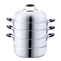 Cooking Steamer SS# 304 stainless steel Food Boil thickened Kitchen ware 3 layer Steamer Cooking Casserole Pot