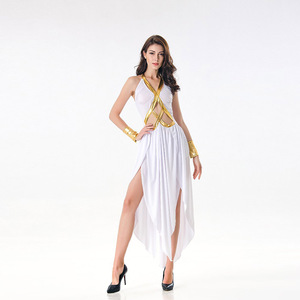 Image 4 - VASHEJIANG Ladies Greek Goddess Cosplay Roman Princess Costumes Adult Sexy Roman Goddess Costume Halloween Carnival Dress