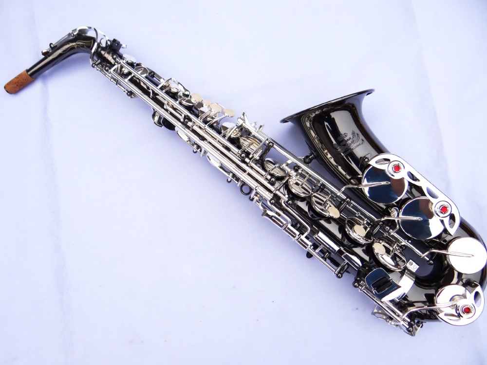 Brand New Genuine France Selmer Alto Saxophone Professional Black Nickel Gold Silver Key Sax mouthpiece With Case and Accessorie brand new france selmer alto saxophone r54 professional e black white key sax mouthpiece with case and accessories