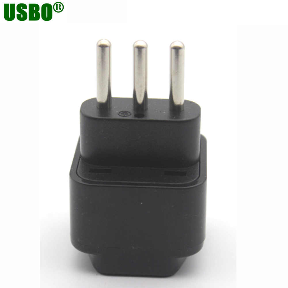 Travel Adapter Eu To Uk Wholesale Black 250v 10a Copper Travel Universal Plug Adapter Eu Us Uk Au To Italy Uruguay Grounded Power Adapter Plug Type L