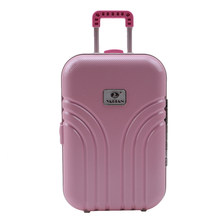 Baby Born Dolls Travel Suitcase Pink Silver Suitcase For 18 Inch American Girl Doll Accessories The Kids Best Gift(China)