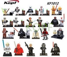 KF1012 Building Blocks Yoda Han Solo Obi Wan Kenobi Clone Trooper Darth Maul Red Guard Star Wars Model Children Toys(China)