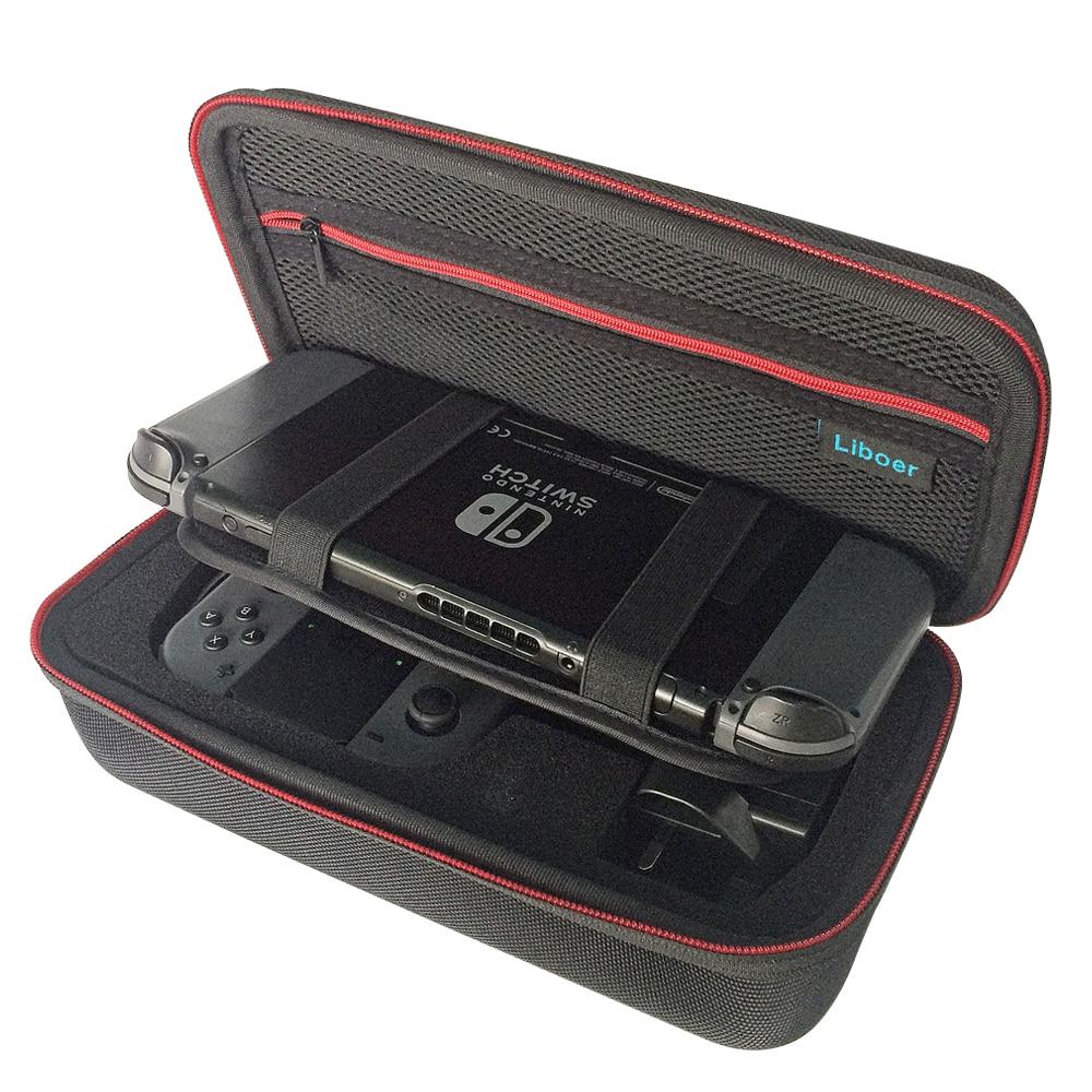 אחסון קשיח נשיאה מקרה תיק נסיעות נייד עם ידית עבור Nintendo מתג קונסולה JoyCon Controller AC מתאם מטען BN30