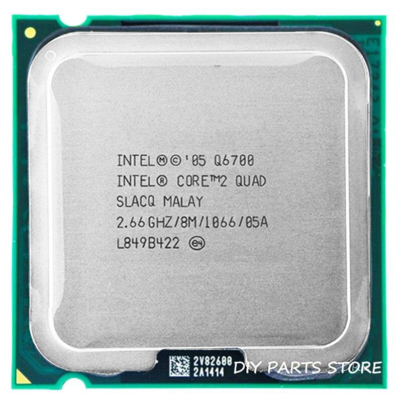 Procesador de CPU 4 núcleos INTEL core 2 de cuatro núcleos Q6700 2,66 Ghz/8 M/1066 MHz) socket LGA 775