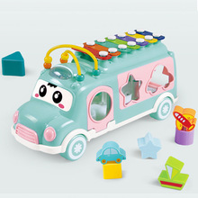 Musical Instrument Baby Toys Knock Piano Bus Shape Learning Car Kids For Music Hand Eye Coordination baby gifts
