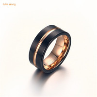 Julie New 1pcs Men S Fashion New Minimalist Creative Jewelry Wholesale Tungsten Carbide Ring Never Wear