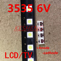 Светодиодный SMD диоды для подсветки телевизора, 100 шт., 2 Вт, 6 в, 3535, 3 в