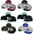 Novo diamante snapback chapéu snapback cap hip hop boné de beisebol do chapéu tampão Da Forma Chapéu Esporte para Mulheres Dos Homens Cap Ajustável Livre grátis