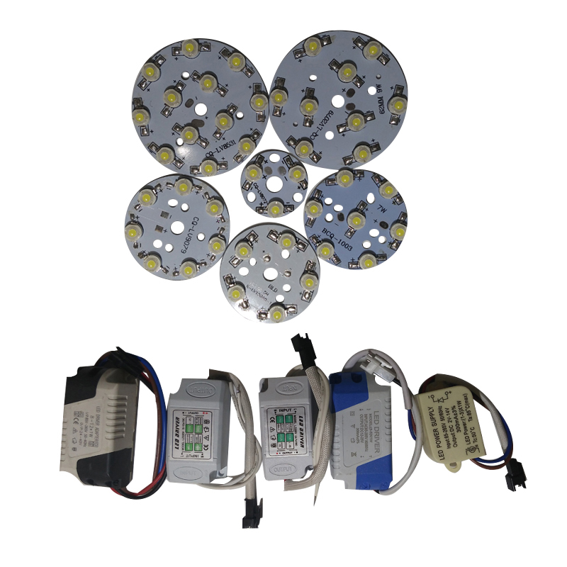 5 Set Led Ligh Board With Led Driver For Led Bulb Downlight Spotlight Repair Diy Led Parts In