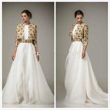 2017 evening dress custom jacket luxury dubai gold beaded Morocco kaftan Abiye Gece Elbisesi VY58 Arab women dress