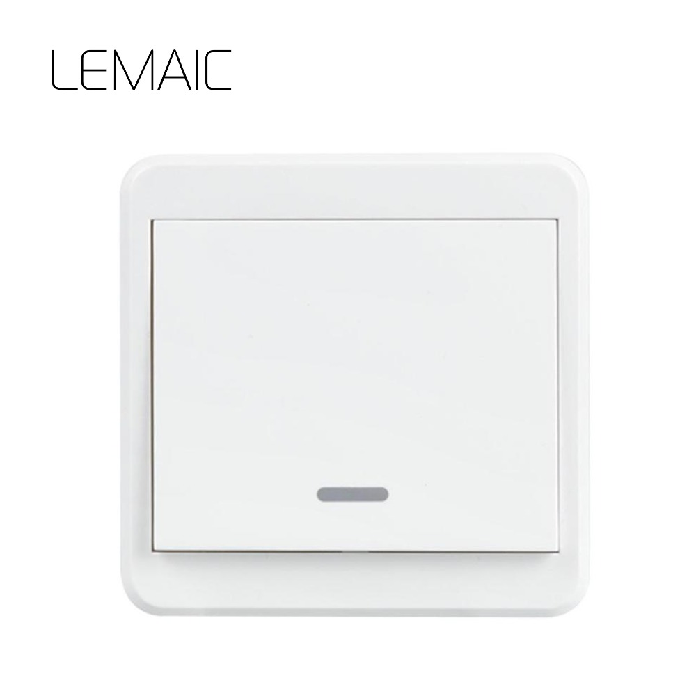 LEMAIC Bed Room Lamp LED Bulb AC 220V Remote Switch Wall Remote Transmitter Wireless Light Switch Smart Home Remote Switch New qiachip 433mhz 86 wall switch 2 button remote control switch wireless transmitter switch room for smart home lamp light led bulb