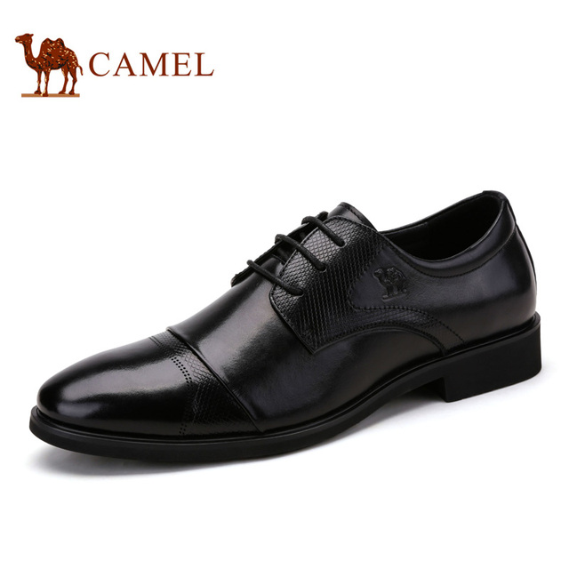 Camel Men's Dress Shoes 2016 New Autumn Classic Men's Business Office  Genuine Leather Shoe Formal