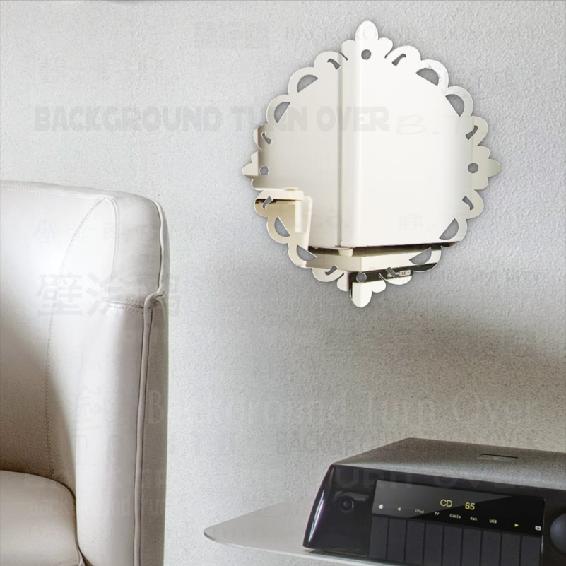 Mirror Wall Vanity Mirrors For Home Kawaii Makeup Decor Shower Circle Stickers Bedroom Round Decorative Hanging Round M007 in Decorative Mirrors from Home Garden