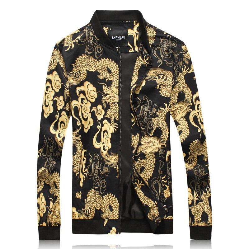 New Fashion Design Men's Cotton Gold Printed Blazer Jacket 4XL