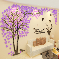 1 pc 2 5M Large Acrylic Wall Sticker 3D Living Room TV Wall Stickers Waterproof Big Tree Pattern Bedroom Decor adesivo de parede