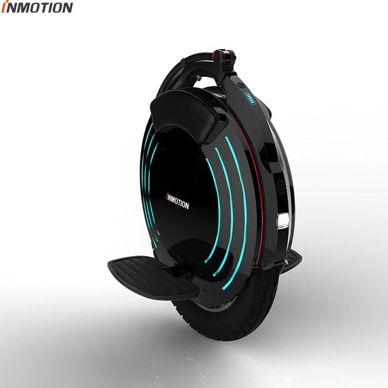 2018 INMOTION V10F monociclo Elétrico de alto desempenho 2000 w motor, velocidade 40 km/h Alta pedal uma roda scooter 16 polegada inteligente
