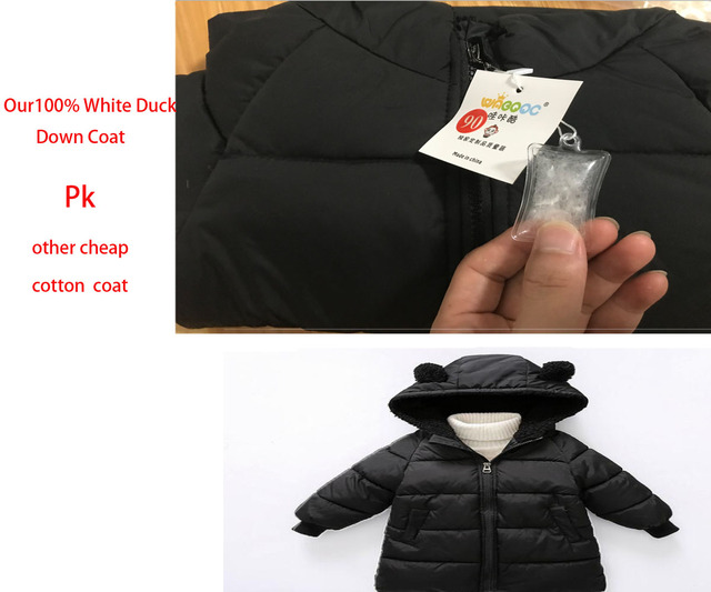 Children Jackets Boys Girls Winter White Duck down coat Baby Winter feather Coat Kids warm outerwear snowsuit Overcoat Clothes