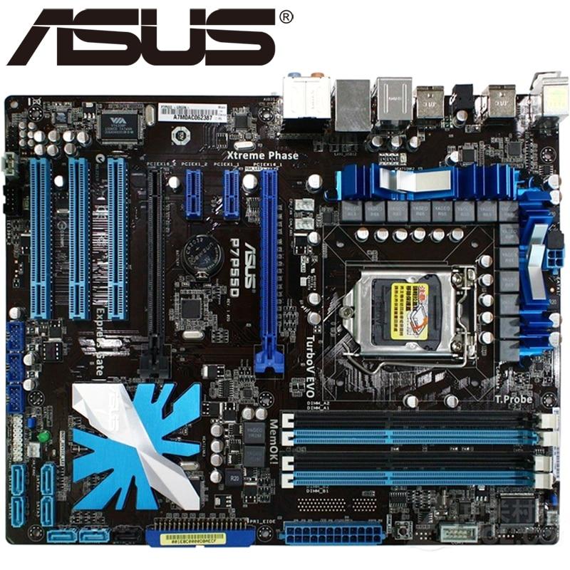US $79 99 |Asus P7P55D Desktop Motherboard P55 Socket LGA 1156 i5 i7 DDR3  16G ATX UEFI BIOS Original Used Mainboard On Sale H55-in Motherboards from
