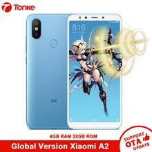 Küresel Sürüm Xiao mi mi A2 4 GB RAM 32 GB ROM CEP TELEFONU Çift 20.0MP Snapdragon 660 Octa çekirdek 3010 mAh 5.99