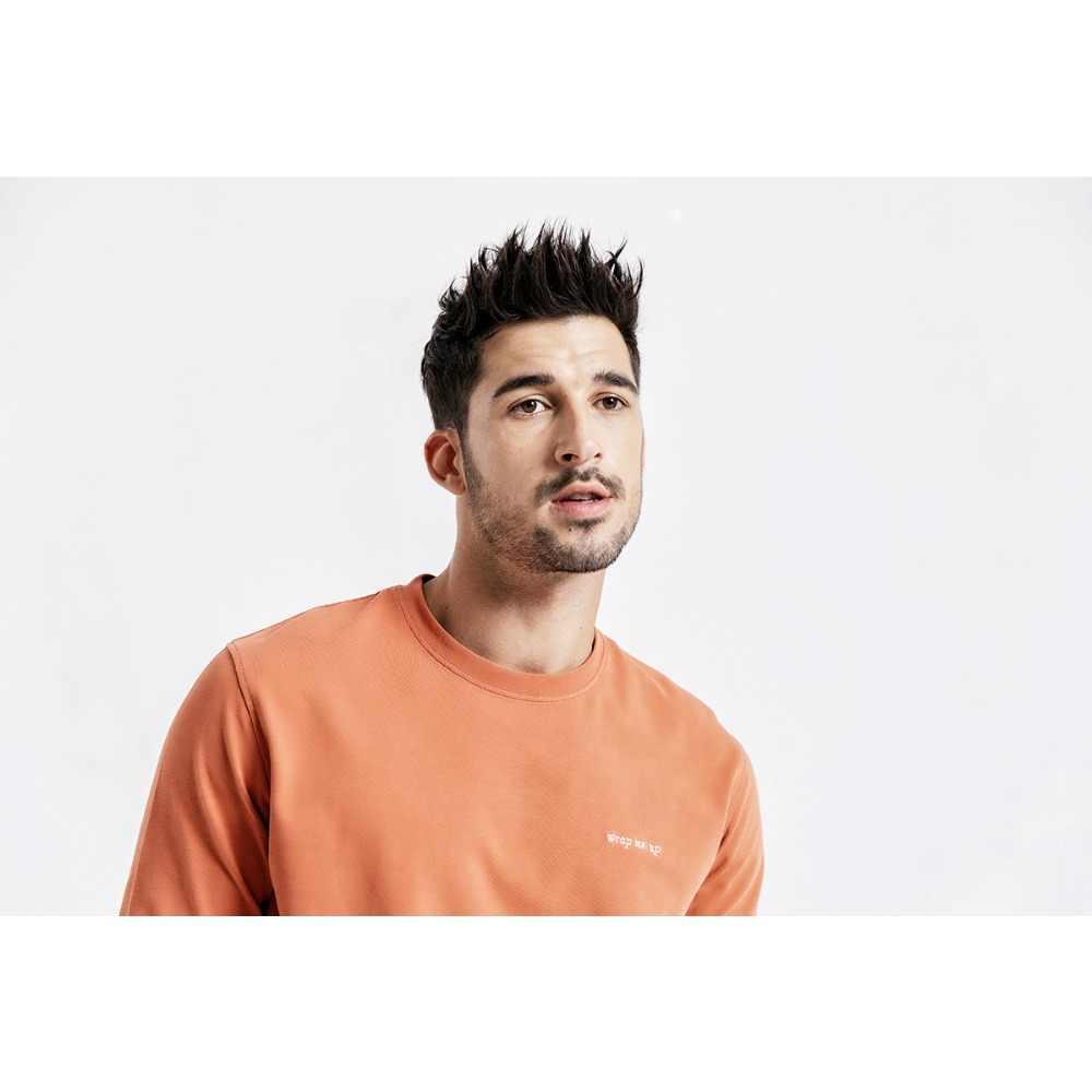 SIMWOOD Casual Lange Mouw T-Shirt Mannen Brief Geborduurd t-shirt 100% Katoen Mode Streetwear Herfst Tops Tees Man 190113