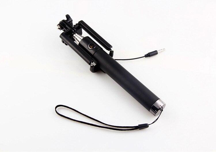 Wholesale100pcs Lot Integrated Foldable Smart Self Timer Shutter Selfie Holder Pole Stick For Smart phone
