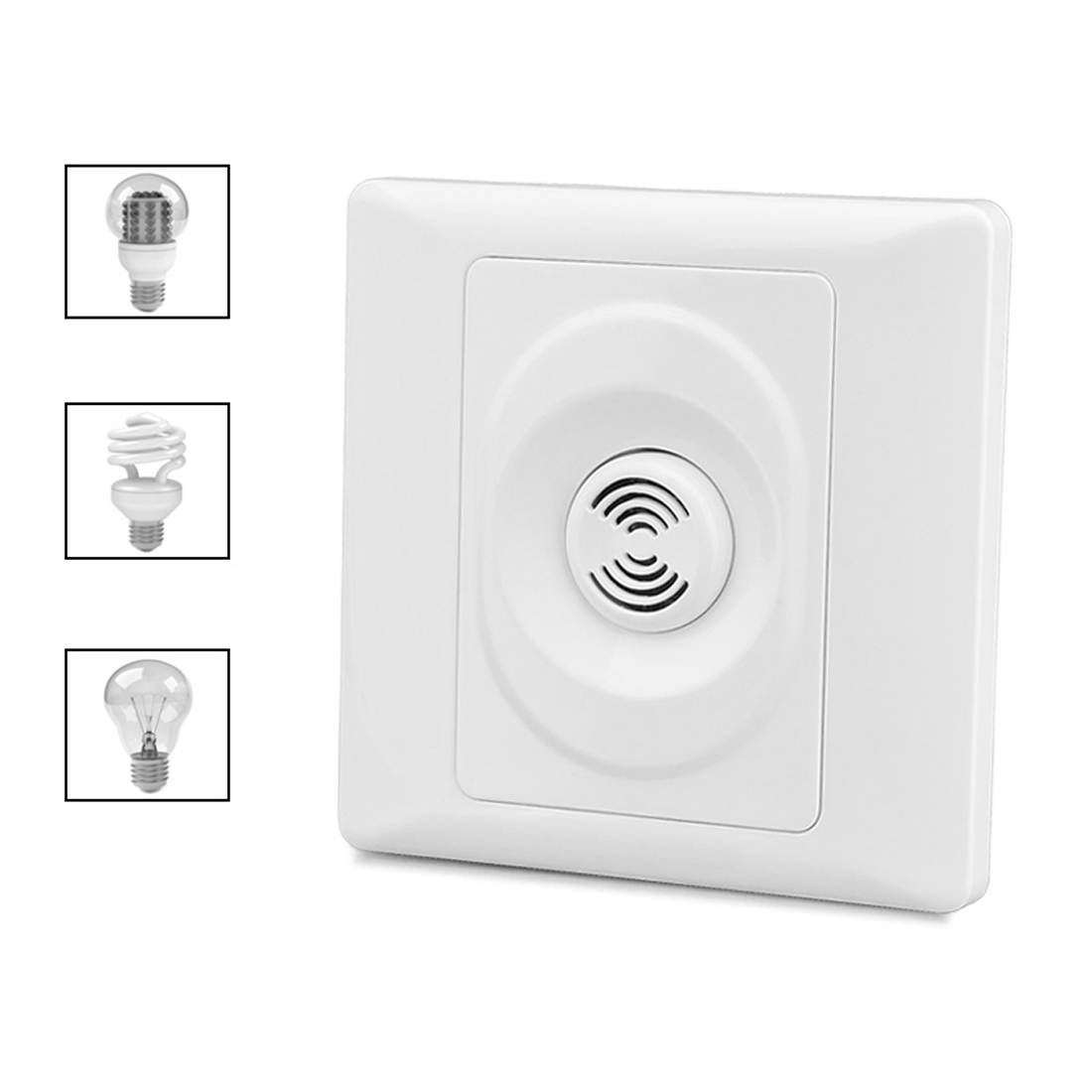 86 X 86mm Switch Control Light Sensor Switch 220v Smart Home Wall Mount Smart Voice Sound & Light Controlled Delay Switch Low Price