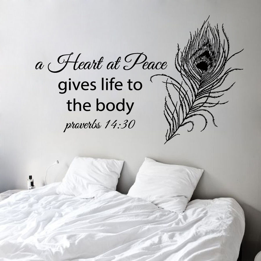 Proverbs Wall Decal Quote Pea